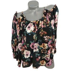Lila Rose Floral Cold Shoulder Top